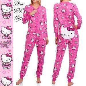 Just in Women's Hello Kitty onesie with back door